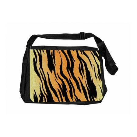 Tiger Print Black Laptop Shoulder Messenger Bag Tiger Print Handbag