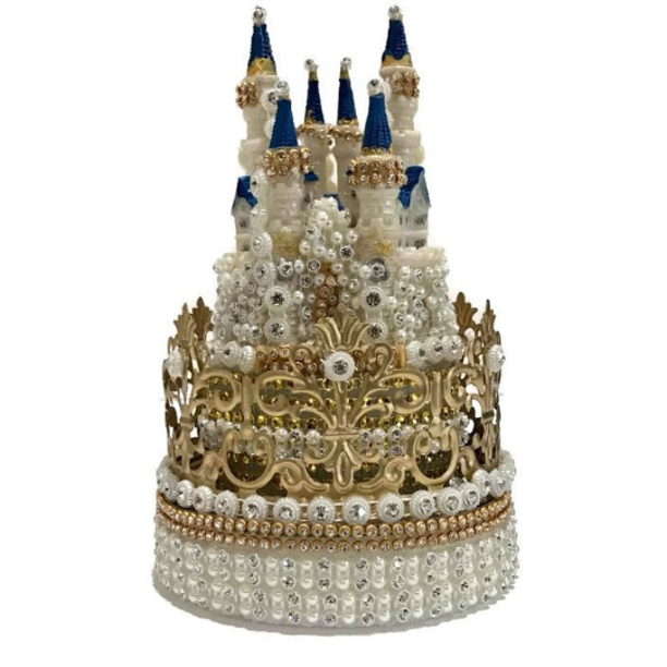 Magnificent Crown Princess Castle Cake Topper Rhinestones Decoration For Funny Birthday Cards Online Inifofree Goldxyz