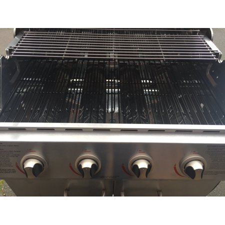 Set of Three Porcelain coated Steel cooking grids for Bbq models from Charbroil, Kenmore, Master Chef and other manufacturers