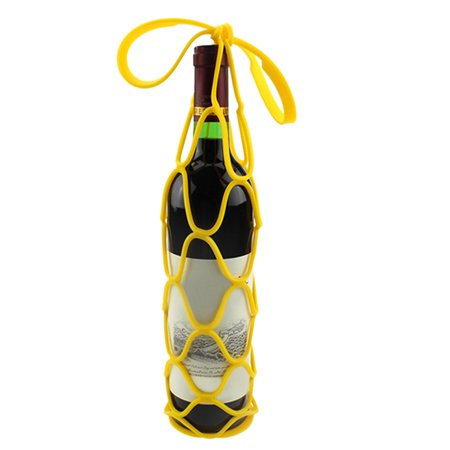 Silicone Mesh Bag Basket Insulation Placemat Travel Picnic Wine Bottle -