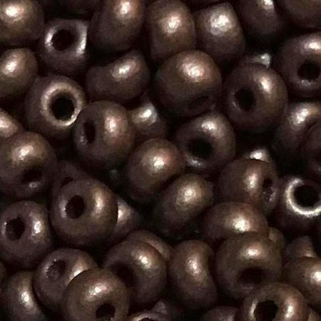 Czech Seed Beads 6/0 Chocolate Matte Pearl (1 ounce)