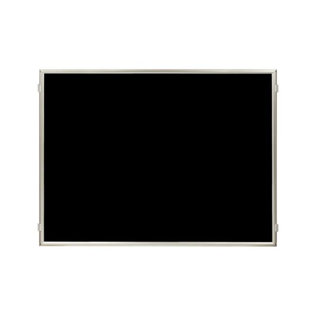 Lavi Industries 50-HFP1007-SA-BK Hinged Frame Sign Panel And Barrier, Satin Aluminum