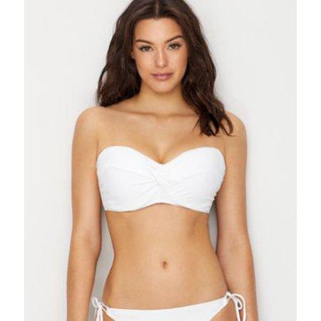 53726e56fc86c Sunsets - Sunsets White Lily Iconic Twist Underwire Bikini Top D-DD Cups -  Walmart.com