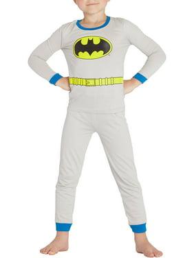 Dc Comics Batman Grey Cotton Tight Fit Pajama Set(Little Boys & Big Boys)