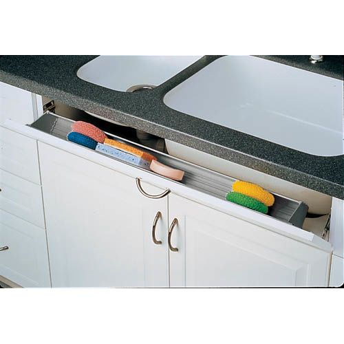 Rev-A-Shelf 6551-36SC-50 6551 Series 36 Inch Wide Sink Front Tip-Out Tray with Soft Close