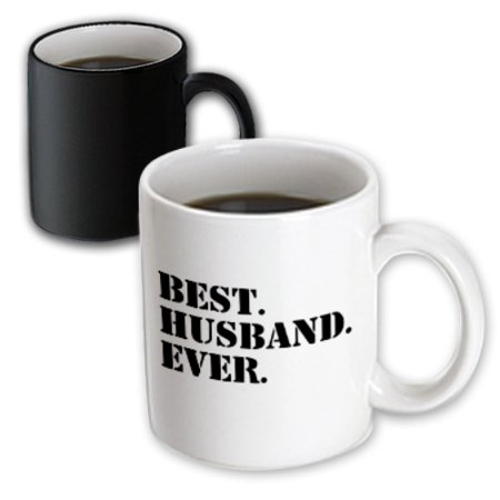 3dRose Best Husband Ever - fun romantic married wedded love gifts for him for anniversary or Valentines day, Magic Transforming Mug,