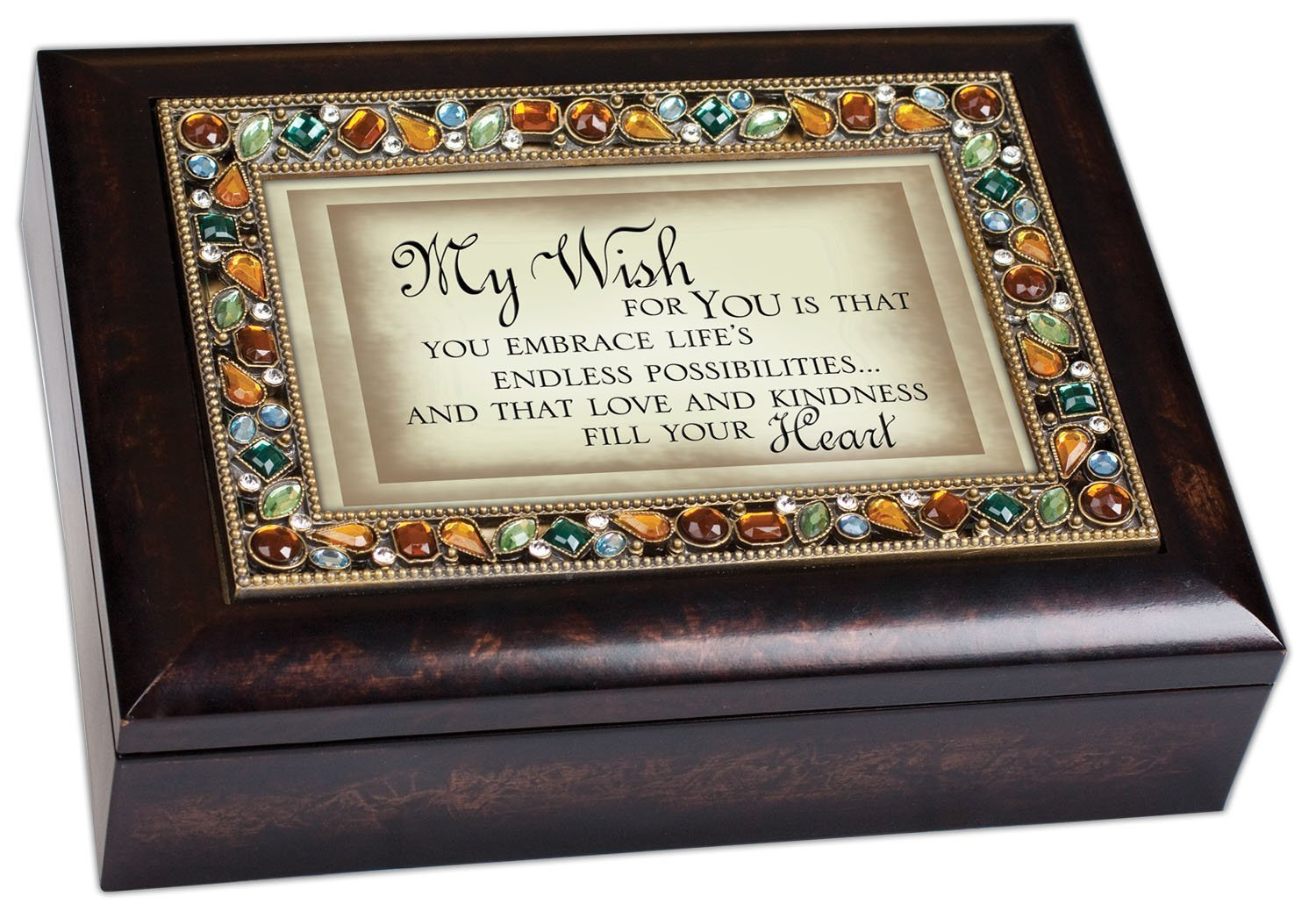My Wish For You Inspirational Italian Style Burlwood Finish