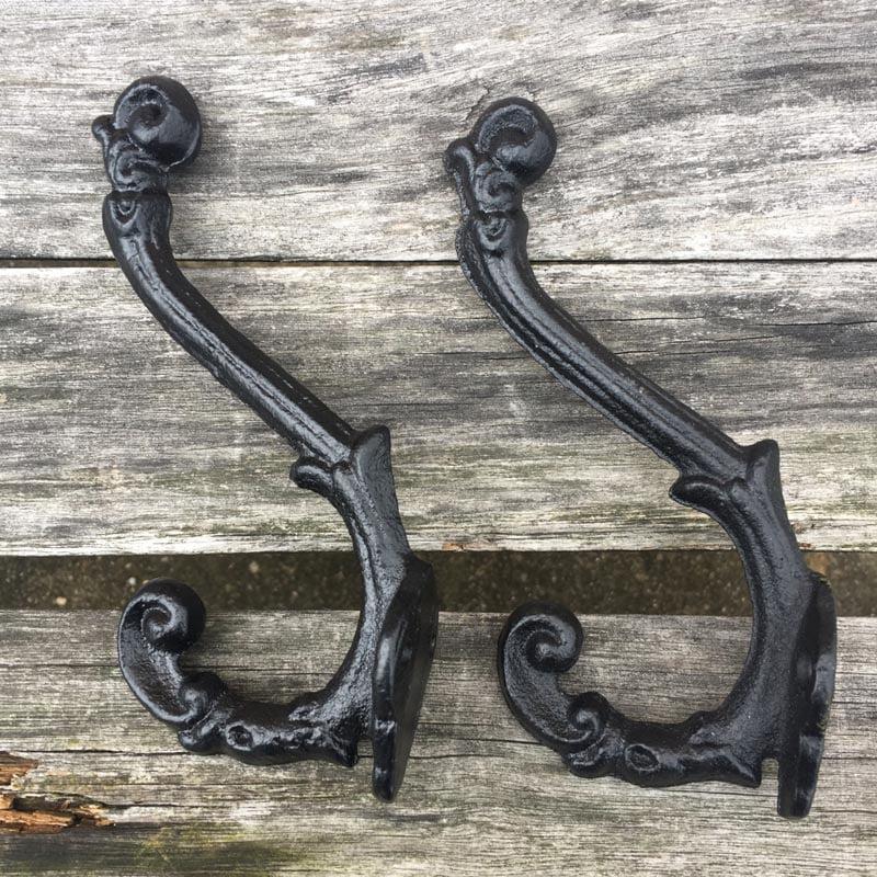 5 Pcs Vintage Style Cast Iron Wall Coat Hooks Hat Hook Hall Tree
