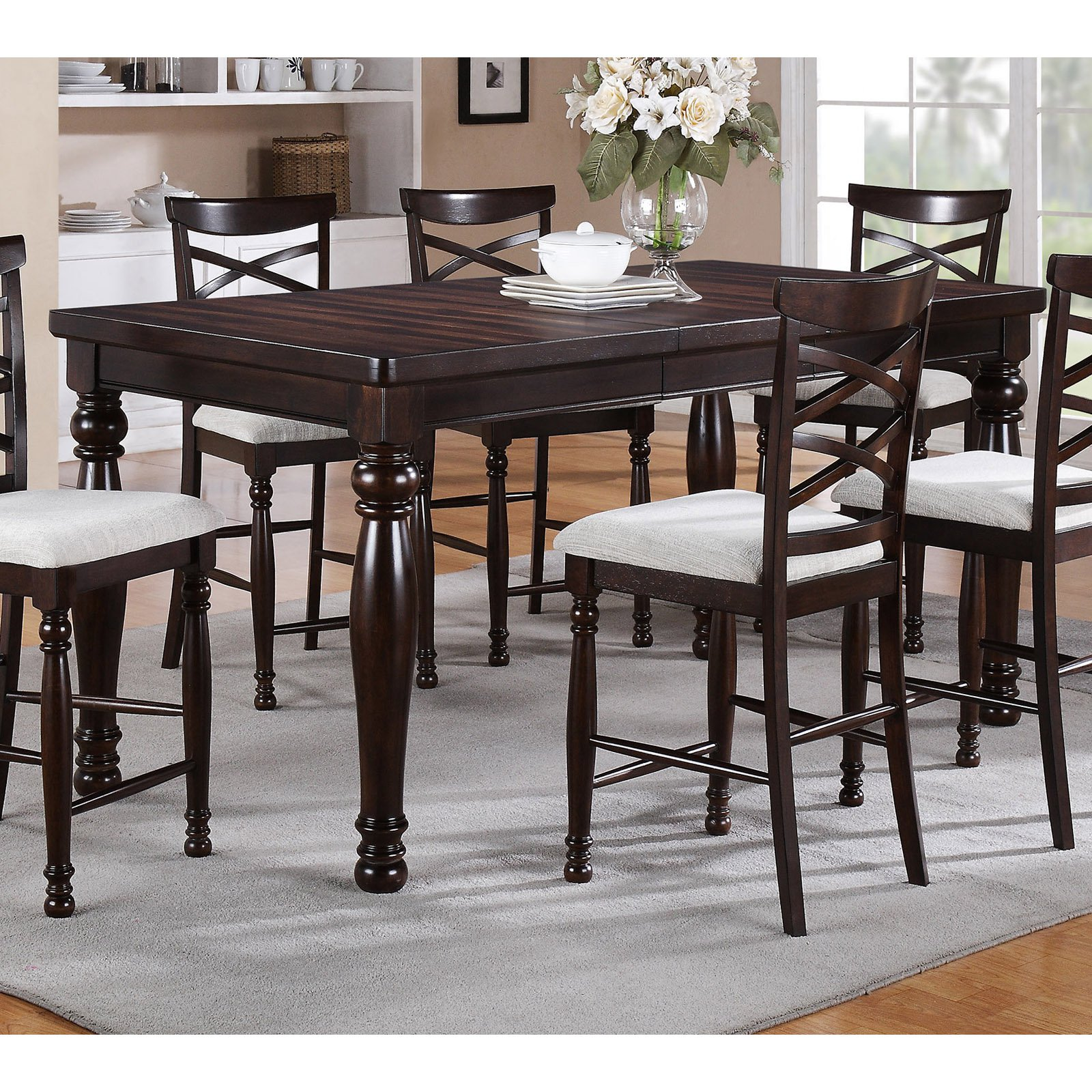 Winners Only Hamilton Park Counter Height Dining Table with 18 in. Butterfly Leaf
