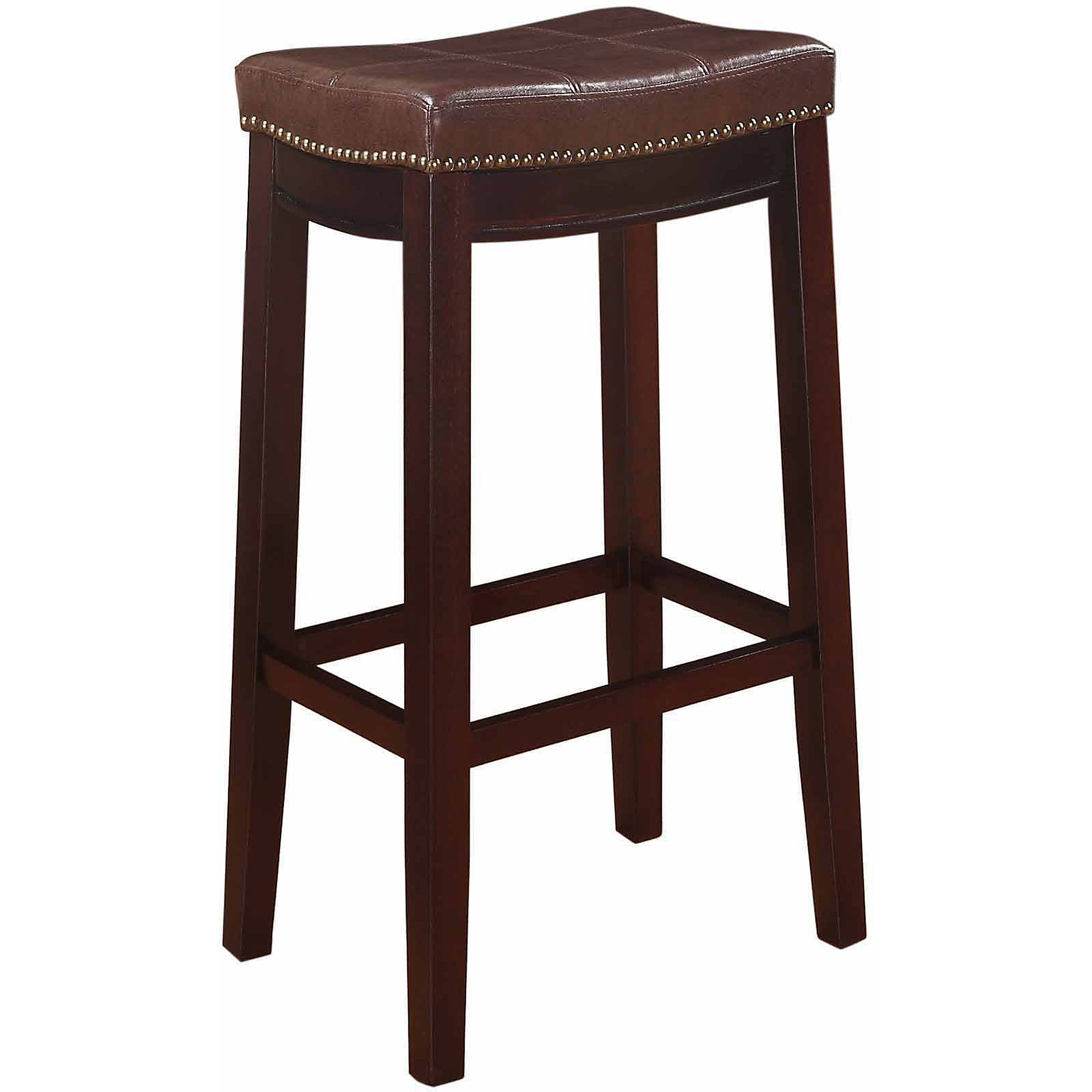 Linon claridge patches bar stool mutliple colors 32 inch seat height walmart com