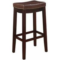 Linon Claridge Bar Stool, 30 inch Seat Height, Multiple Colors