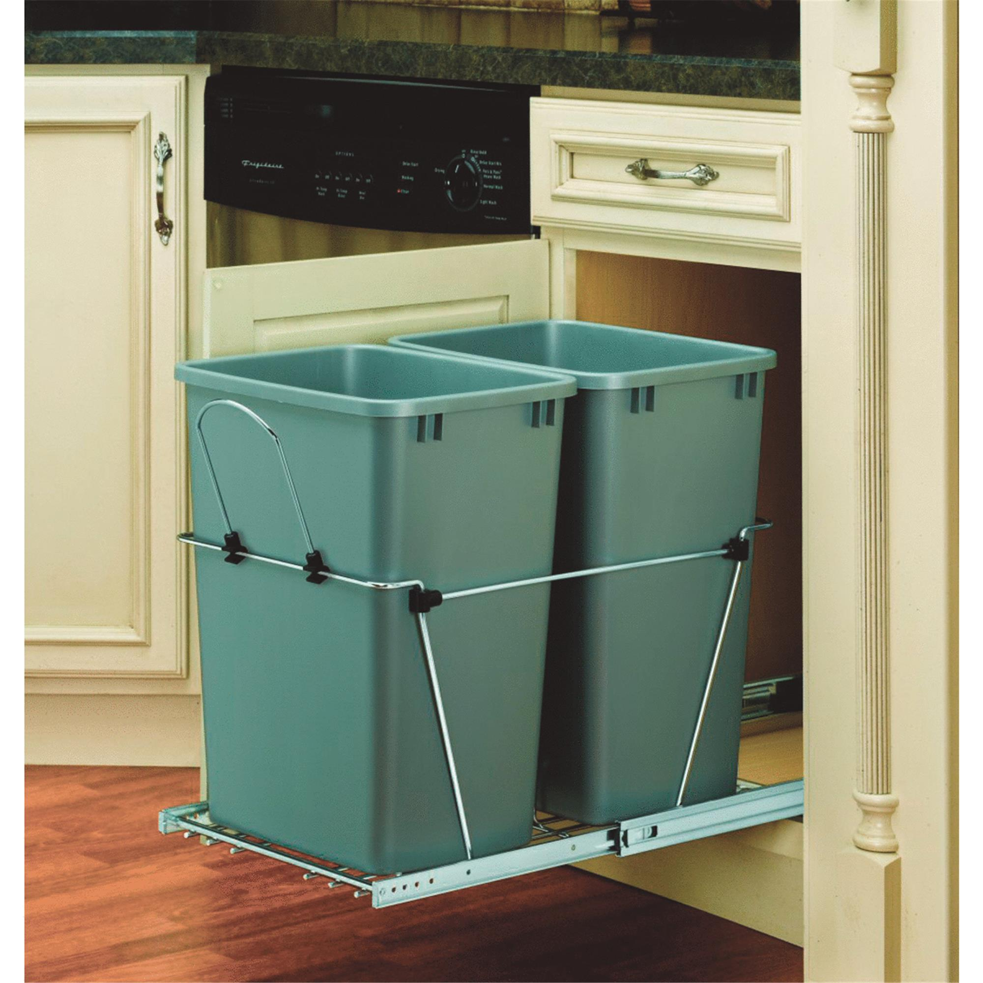Rev-A-Shelf 35 Quart Double Pull-Out Waste Container