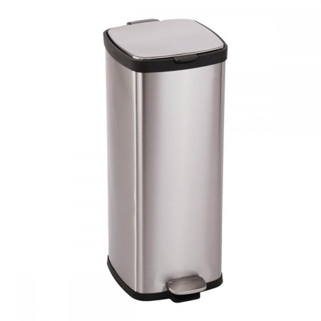 FDW BestOffice 8 Gallon/ 30L Step Stainless-Steel Trash Can Kitchen S30T 30l Retro Pedal Bin