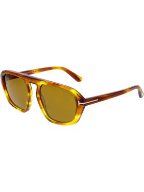 2c270c53ca3 Product Image Tom Ford FT0634-53E-57 Brown Square Sunglasses