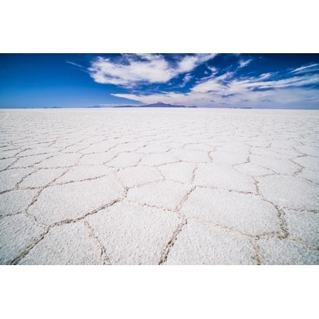 Uyuni Salt Flats Patterns Landscape (Salar De Uyuni), Uyuni, Bolivia, South America Print Wall Art By Matthew (Houses For Sale In Bolivia South America)