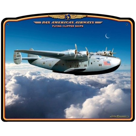 Pan Am Flying Clipper Metal Aviation Sign  SIG-0180 ()