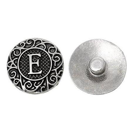 Alphabet Letter E Chunk Snap Button Pendant Fits Snaps Chunk