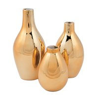 Gold Metallic Vase Set (3Pc) - Home Decor - 3 Pieces