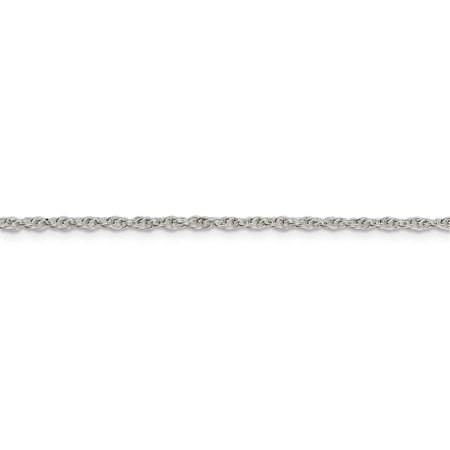 925 Sterling Silver 2mm Loose Link Rope Chain Necklace 24 Inch Pendant Charm Fine Jewelry For Women Gifts For Her - image 5 de 9