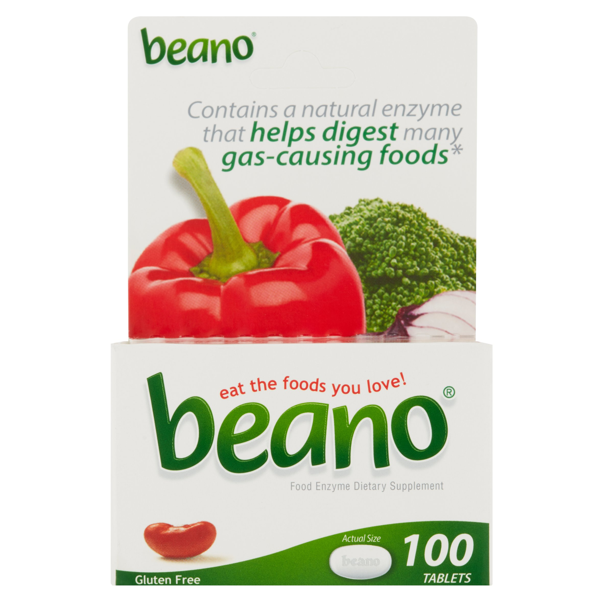 Beano Food Enzyme Dietary Supplement 100 Tablets