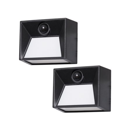 Westinghouse 50 Lumen Solar Motion Activated Lights - Black Finish - 2PK