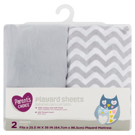 Parent's Choice Playard Sheets, Neutral, 2 Pack (Nocturne Op 9 No 2 Piano Sheet)