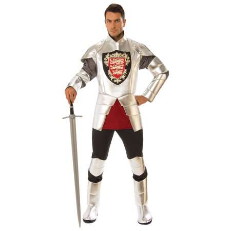 Mens Silver Knight Halloween Costume