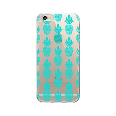 OTM Prints Clear Phone Case, Pineapple Lane - iPhone 6/6s/7/7s