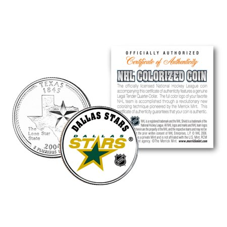 DALLAS STARS NHL Hockey Texas Statehood Quarter US Colorized Coin LICENSED - Halloween Stores In Dallas Texas