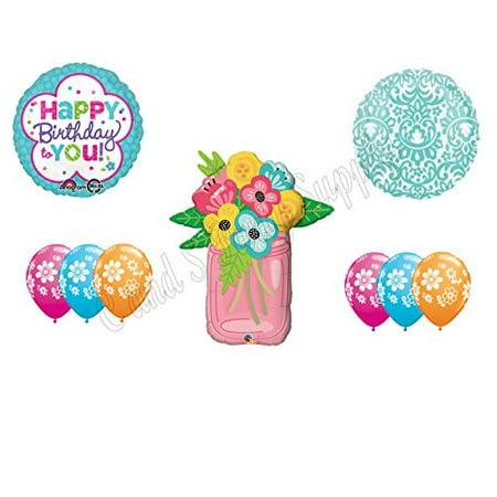 MASON JAR FLOWERS Birthday Party Balloons Decoration Supplies Canning Mom