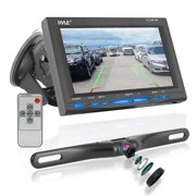 "PYLE PLCM7500 - Rear View Backup Car Camera - Screen Monitor System w/ Parking and Reverse Assist Safety Distance Scale Lines, Waterproof & Night Vision, 7"" LCD video Color Display for Vehicles"