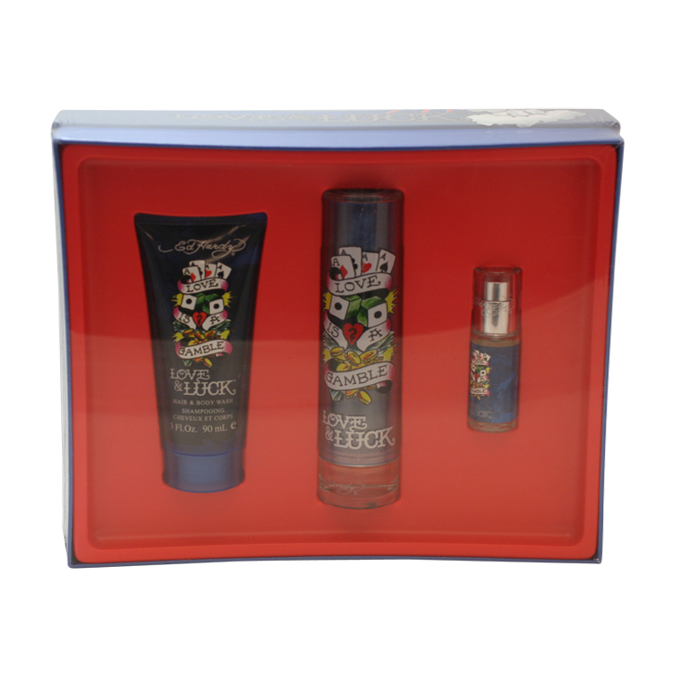 Ed Hardy Love & Luck Love Is A Gamble 3 Pc. Gift Set ( Ea...
