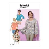 Butterick Pattern Misses' Top-L-XL-XXL