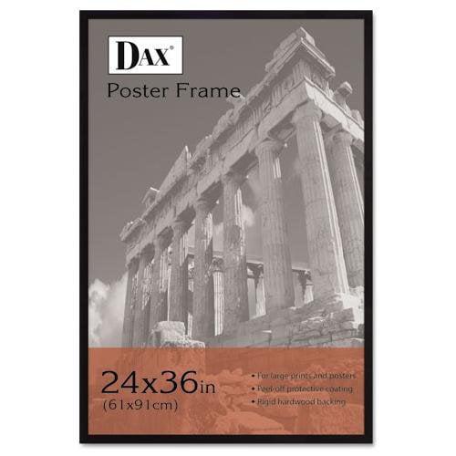 """Dax Styrene Front 24""""x36"""" Wooden Frame - 24"""" X 36"""" Frame Insert - Wall Mountable - Vertical, Horizontal - Styrene, Wood - Black (286036x)"""