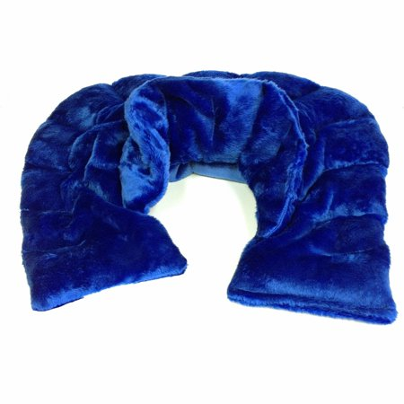IGIA Heated Microwaveable Neck and Shoulder Wrap Herbal Hot/Cold Deep Penetrating Herbal Aromatherapy (Slate Blue)