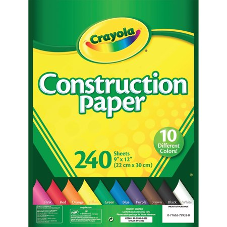 Crayola Construction Paper in 10 Colors, 240 Sheets](Halloween Crafts To Do With Construction Paper)