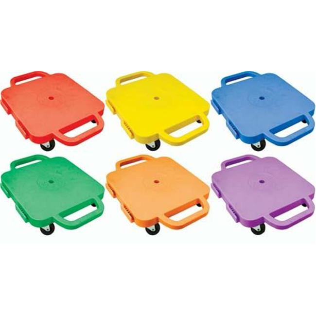 Olympia Sports GY453P 12 in. Curved-Handle Connect-A-Scooters - Set of 6 Blue