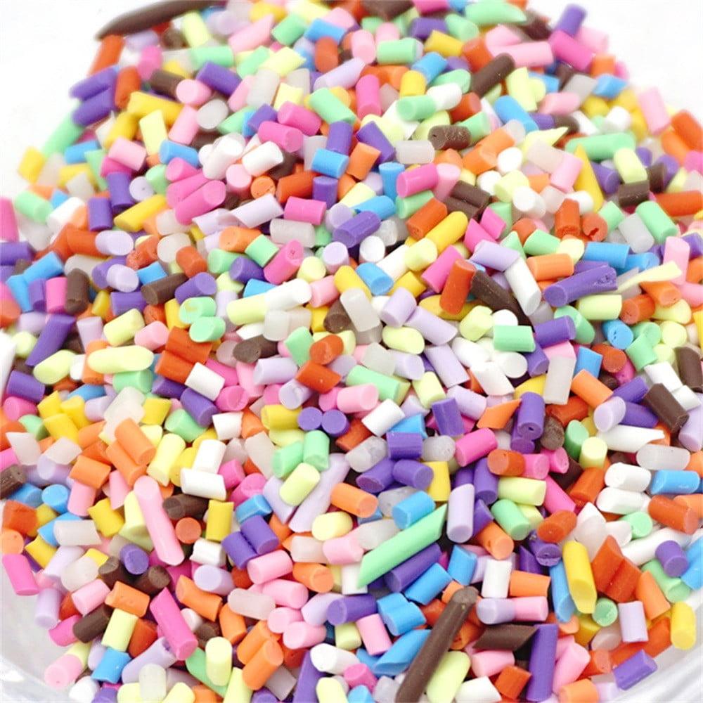 Mosunx Colorful Styrofoam Sugar Sprinkles Decorative Slime DIY Craft For Crunchy Slime