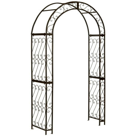 Pagan Outdoor Traditional Geometric Trellis Arch (Trellis Garden Arches)