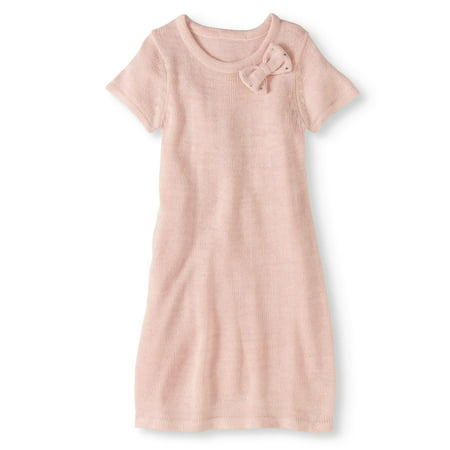 ce7feb5bbd Pink Angel - Girls  Short Sleeve Bow Detail Sweater Dress - Walmart.com