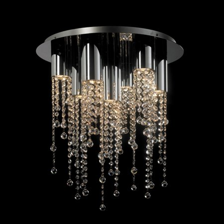 7-Light Ceiling Light with Handcut Crystal Glass