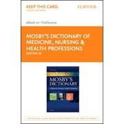 Mosby's Dictionary of Medicine, Nursing & Health Professions Access Code