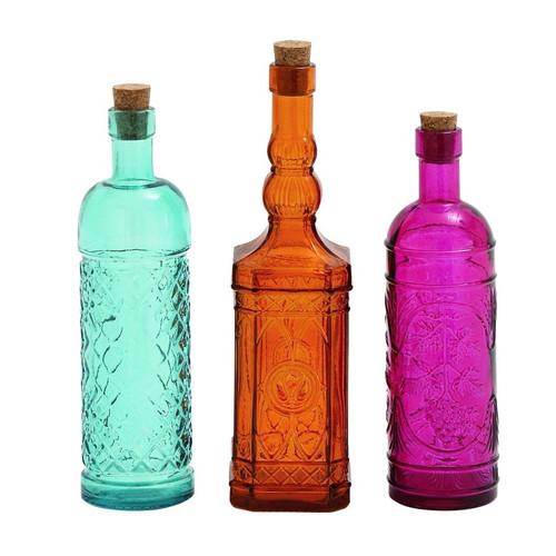 Cole & Grey Glass Stopper 3 Piece Decorative Bottle Set by UMA Enterprises