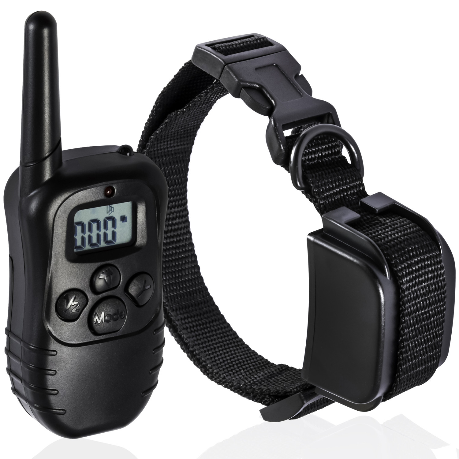 OxGord Rechargeable Remote Dog Training Collar 330 Yard Radius LCD 100LV Shock Pet Bark, 1 Collar