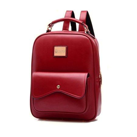 Leather Package - Women Leather Backpack Travel Shoulder Handbag BookBag Satchel Convenient Package