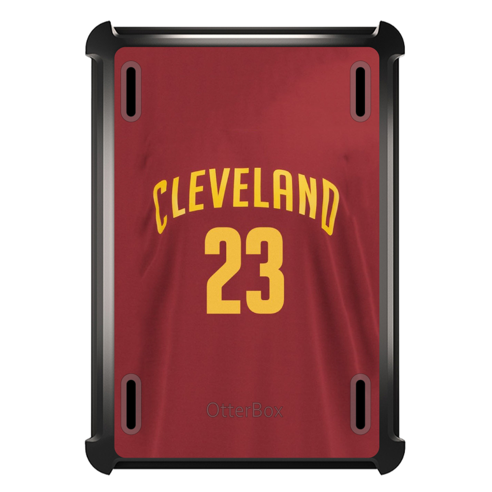 CUSTOM Black OtterBox Defender Series Case for Apple iPad Mini 4 - Cleveland 23 Jersey