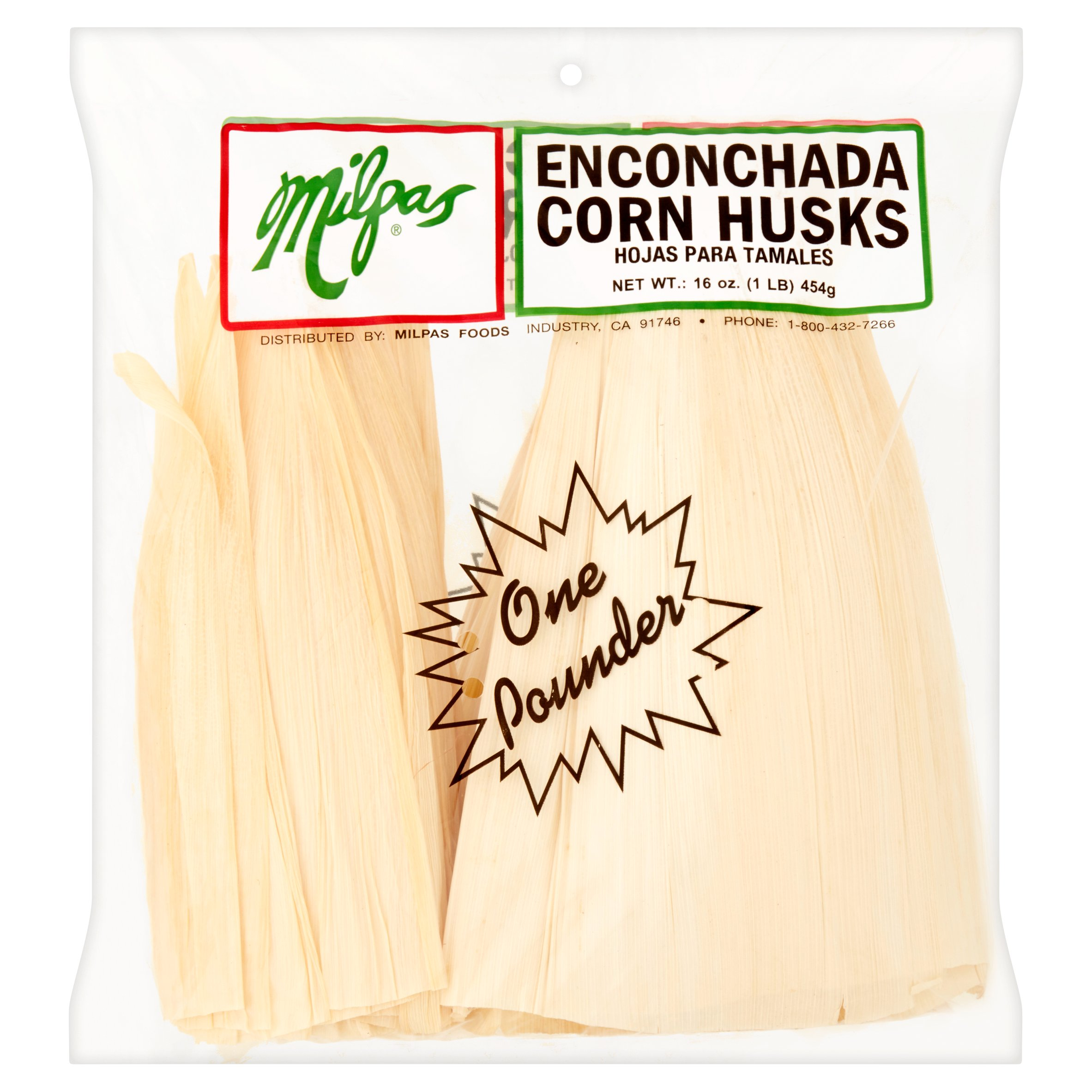 Milpas Enconchada Corn Husks, 16 oz