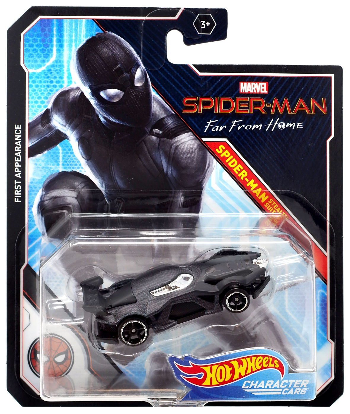 Hot Wheels Spider-Man Stealth Suit Far From Home 1//64 Scale Character Car Marvel