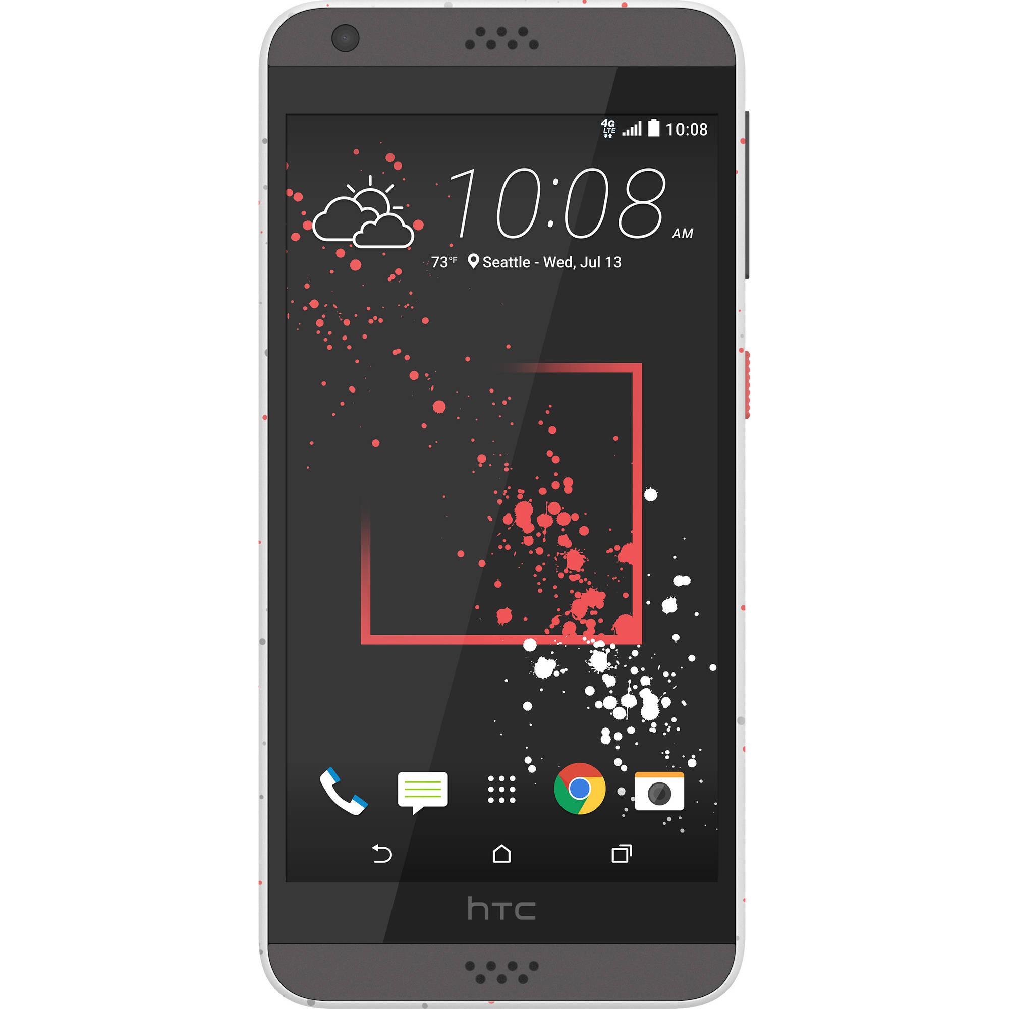 Walmart Family Mobile HTC Desire 530 16GB Prepaid Smartphone, Black