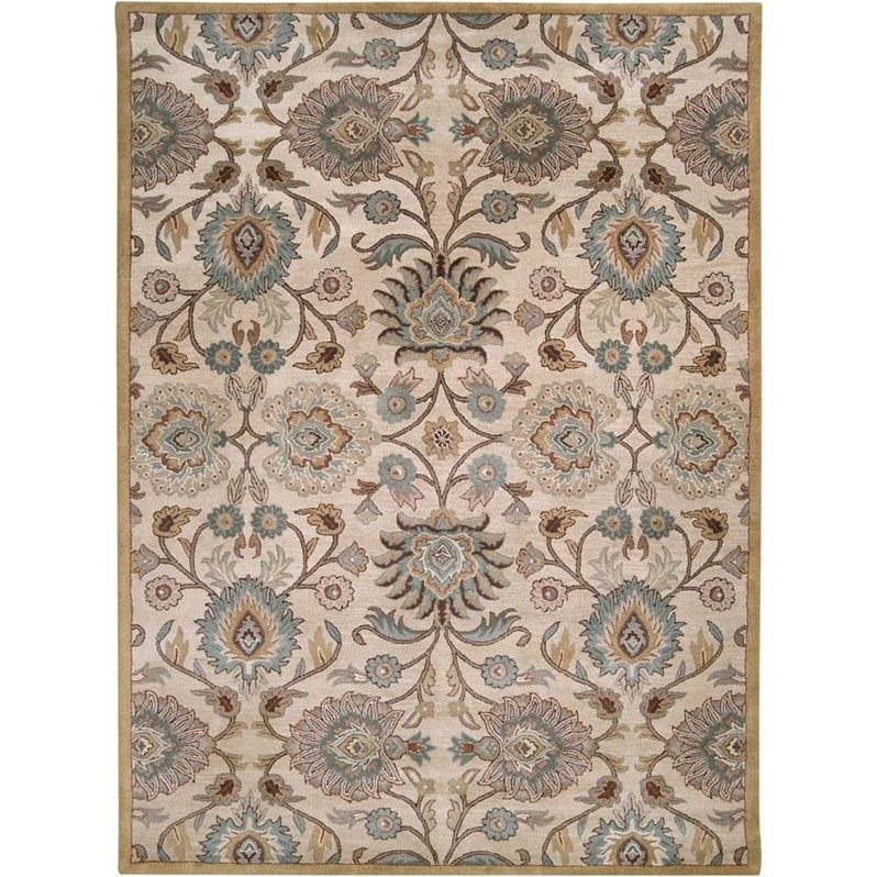 Surya Caesar 8' x 11' Hand Tufted Wool Rug in Gray